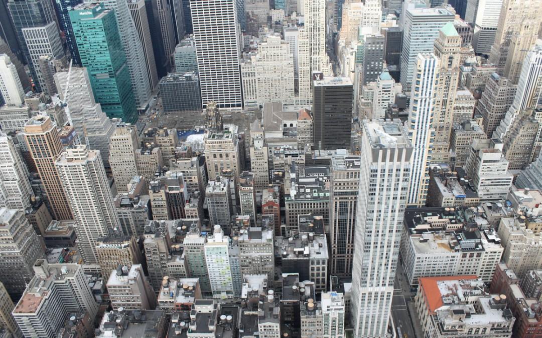 Birds-eye view of New York