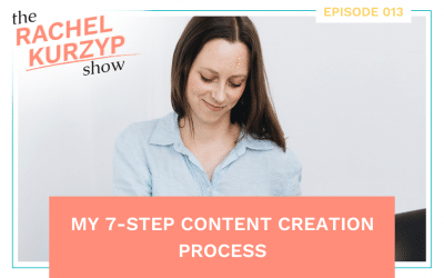 Episode 13: My 7-step content creation process